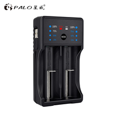 Зарядное устройство PALO 18650 для 3,7 в литиевых 18650 26650 21700 18350 и 1,2 в AA AAA Ni MH аккумуляторных батарей