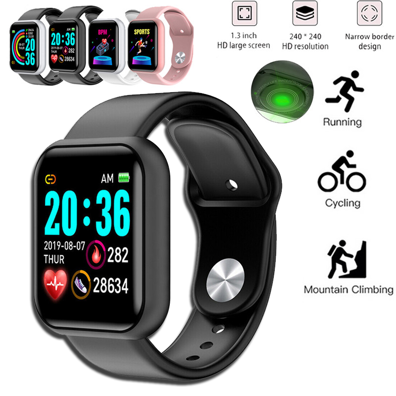 Digital Watch Blood Pressure Heart Rate Monitor Men Women Smart Bracelet IP67 Waterproof Sport Fitness Tracker For Android IOS