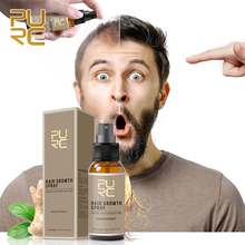 Средство для роста волос PURC, Имбирные ингредиенты 20 мл, масло для роста волос и спрей для роста волос 30 мл, лучшее средство для лечения выпаде...