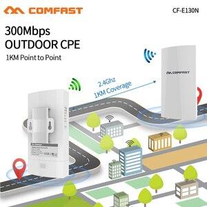 Image 2 - COMFAST CF E130N 1KM 300Mbps 2.4Ghz açık Mini kablosuz erişim noktası köprü WIFI CPE erişim noktası 5dBi WI FI anten Nanostation CPE
