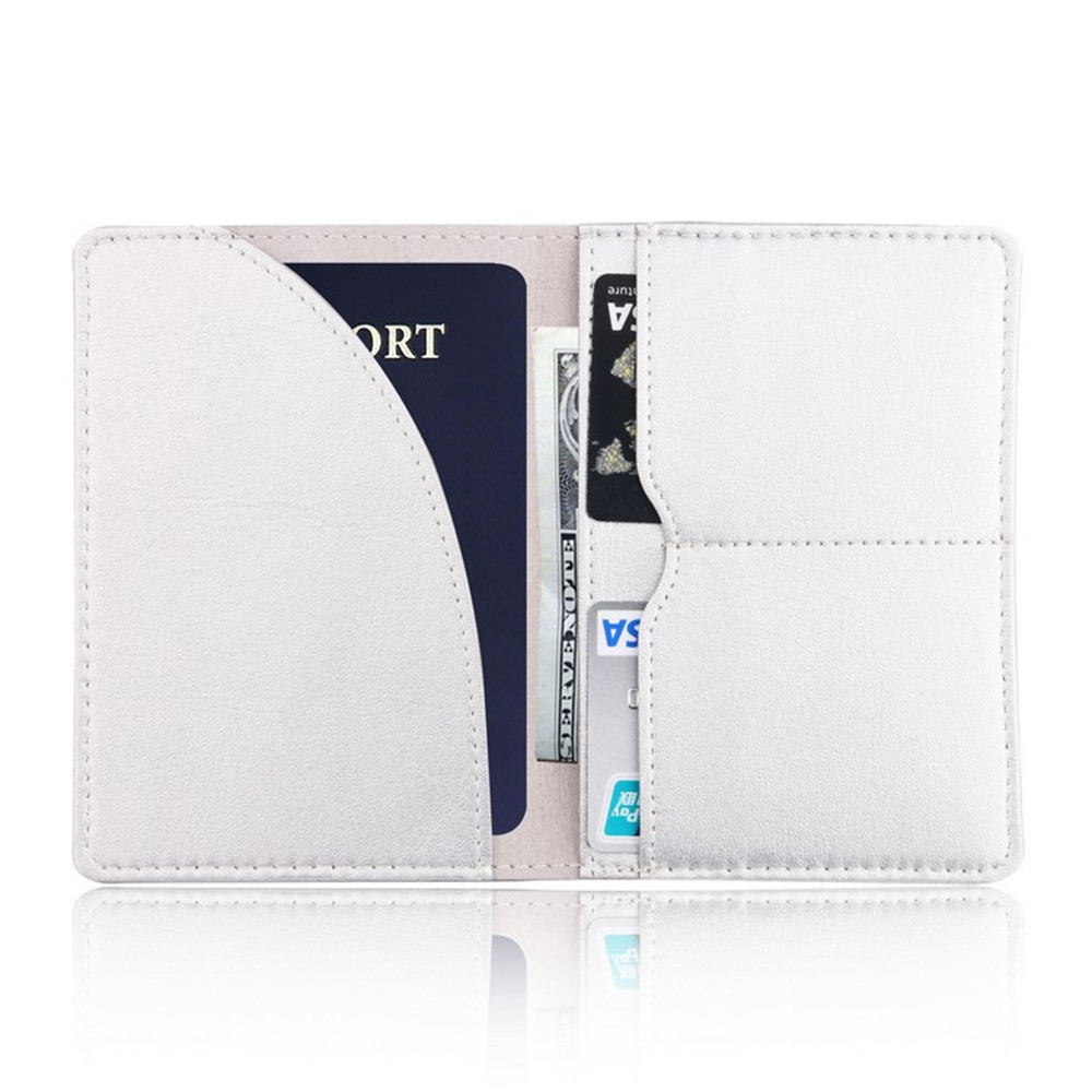 PU Leather Passport Cover ID Business Card Holder Travel Credit Wallet Purse Case Driving License Thin Card Bag in Card ID Holders from Luggage Bags