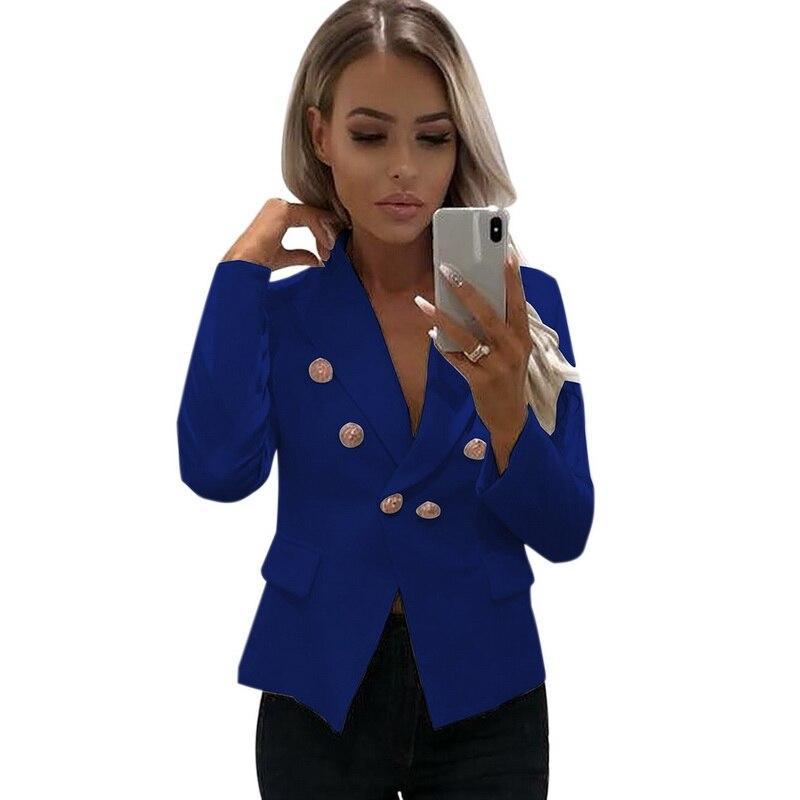 LOOZYKIT женский пиджак двубортный тонкий пиджак розовый женский большой размер пиджак 2019 Мода