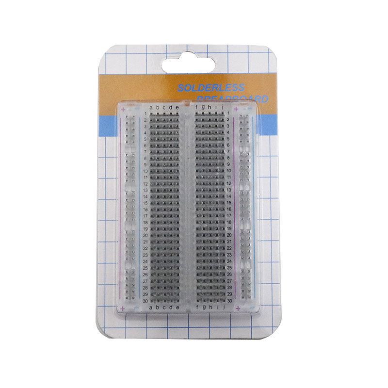 Image 2 - 20PCS Mini bread board/breadboard 8.5cm x 5.5cm 400 holes Transparent/White DIY Electronic experimental Universal PCB QualityConnectors   -