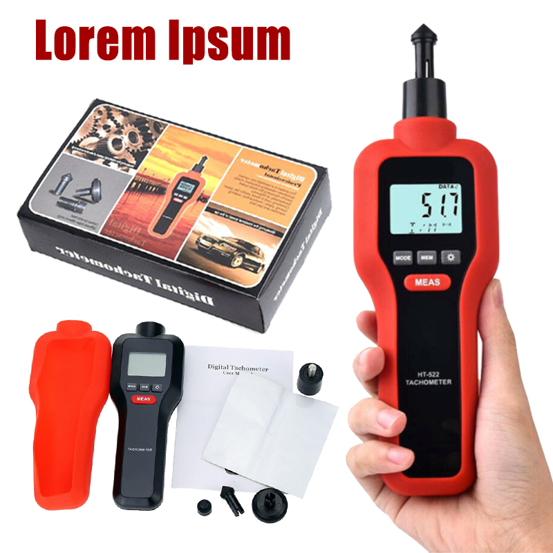 1Pc New HT-522 Digital Rev Counter Tachometer Laser Optical Tachometer Handheld Non-contact Measurement Tools