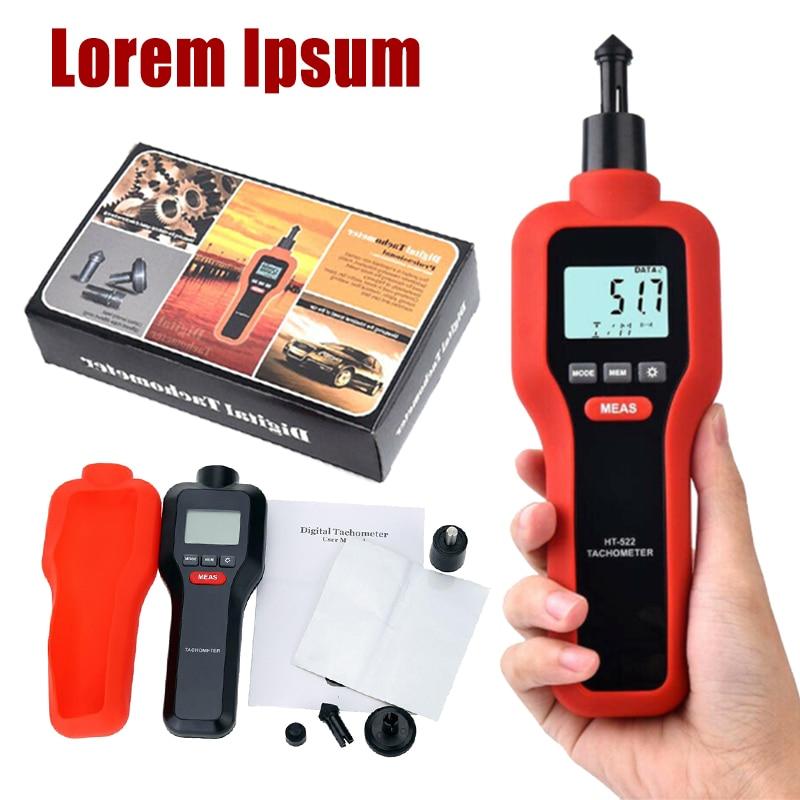 1Pc New HT 522 Digital Rev Counter Tachometer Laser Optical Tachometer Handheld Non contact Measurement Tools
