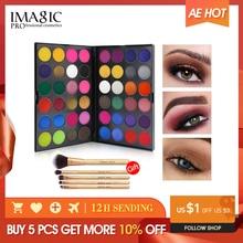 Палитра теней для век IMAGIC, Профессиональные Тени для век 48 цветов, матовые мерцающие блестящие косметические дымчатые тени для век, пудра для макияжа