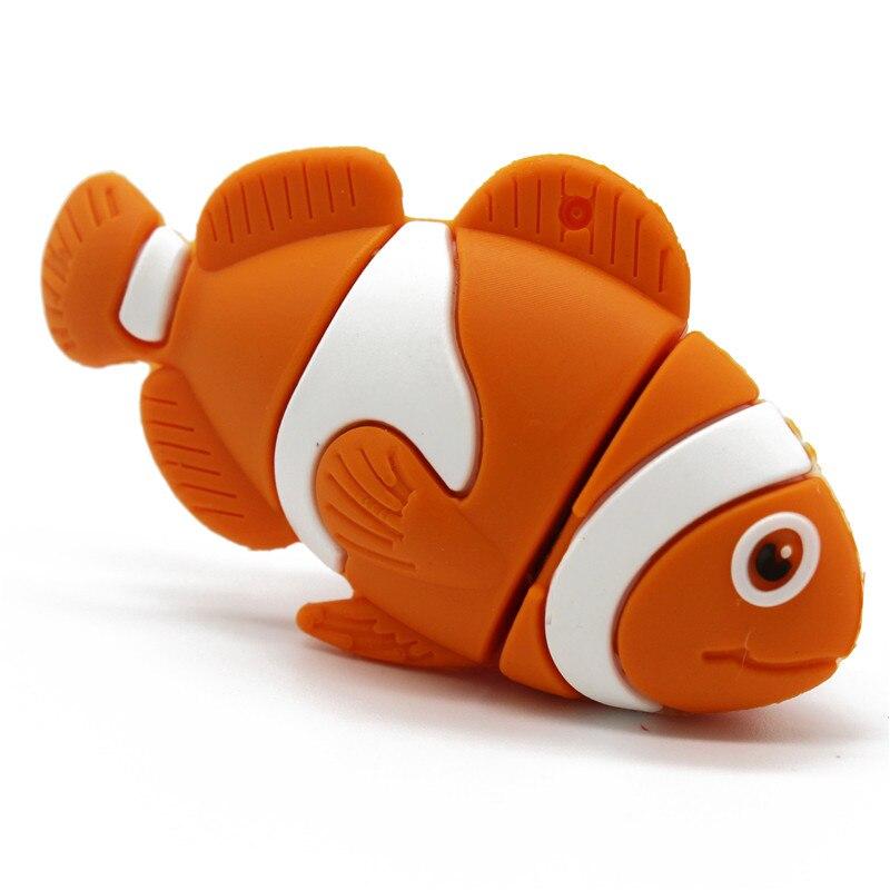 BiNFUL Cartoon Mini Fish Pendrive 4GB 8GB 16GB 32GB 64GB Usb Flash Drive Pendrive