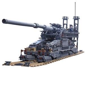 Строительные блоки KAZI 3846, немецкие строительные блоки 80 см K[E], железнодорожное оружие серии «Дора», военные танки, игрушечные блоки 10005 шт.