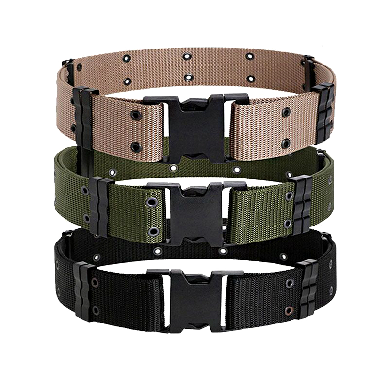 5.5CM Tactical Belt US Army Training Combat Thickening Double Row Hole S Outer Wear Special Forces Military Nylon Waist Belts