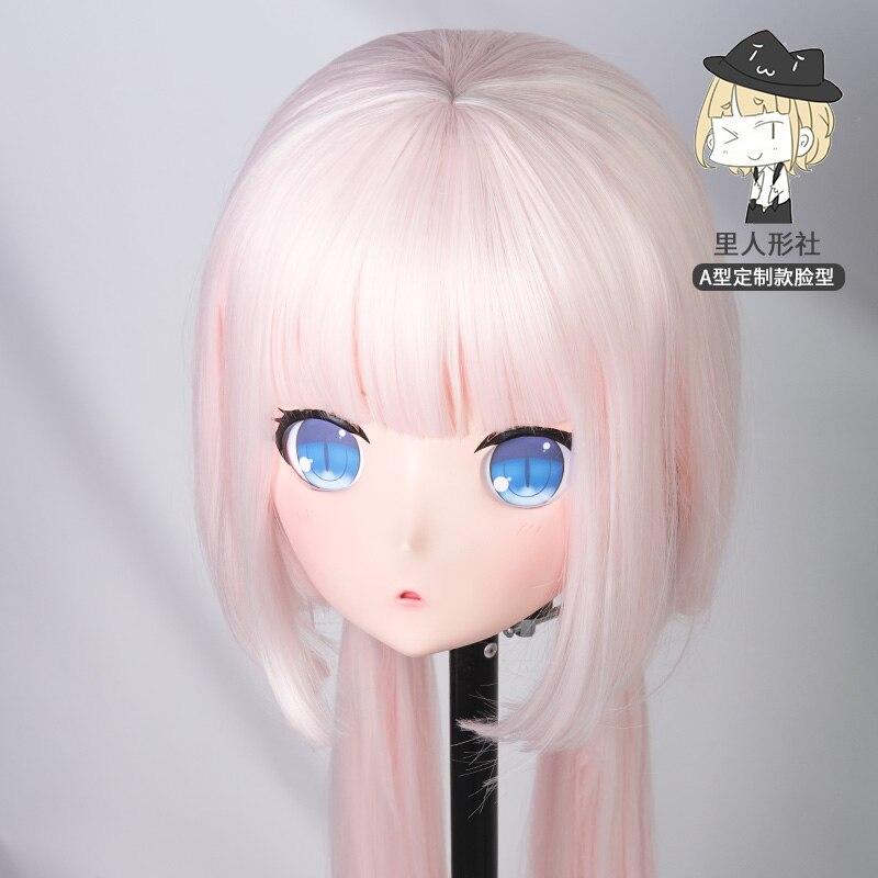 (A1-B)Custom Female/Girl Resin Cosplay Japanese Role Play Anime Kigurumi Mask Crossdresser Doll