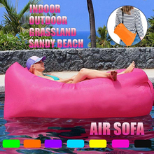 цены 75*21in / 78*25 in Portable Fast Inflatable Lazy bag Air Sleeping Bag Camping Portable Air Banana Sofa Beach Bed Air Nylon Sofa
