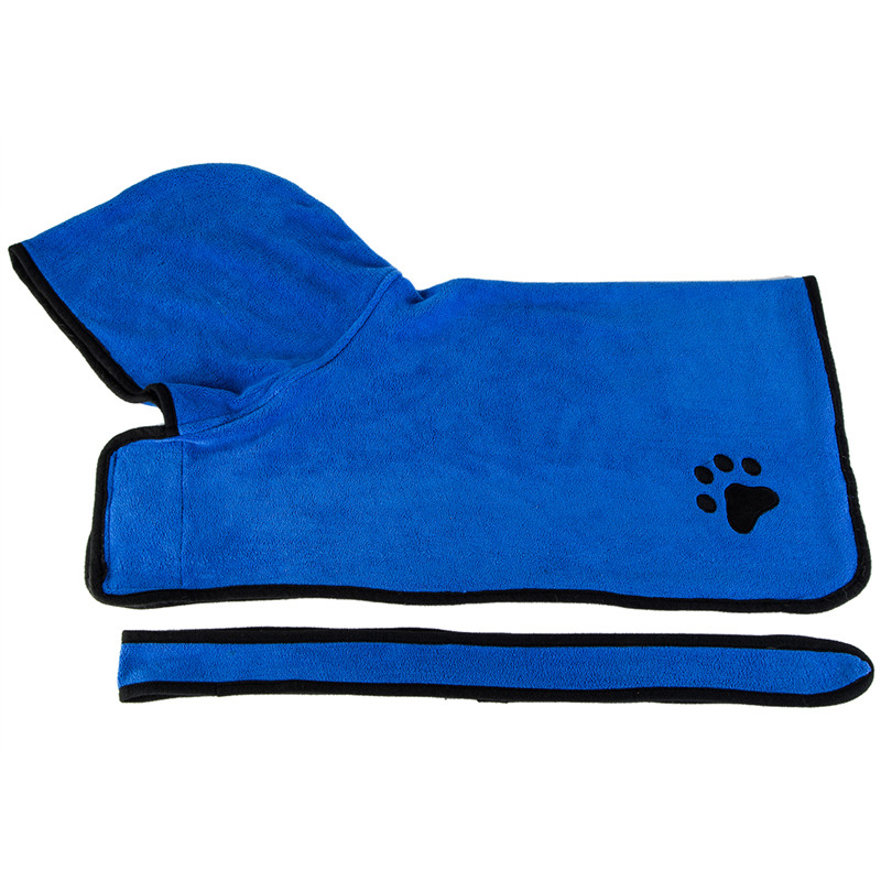 Pet Dog Cat Bathrobe Soft Quickly Absorbing Water Fiber Pet Drying Towel Robe With Hat Pupuy Cat Pet Grooming Supplies 8
