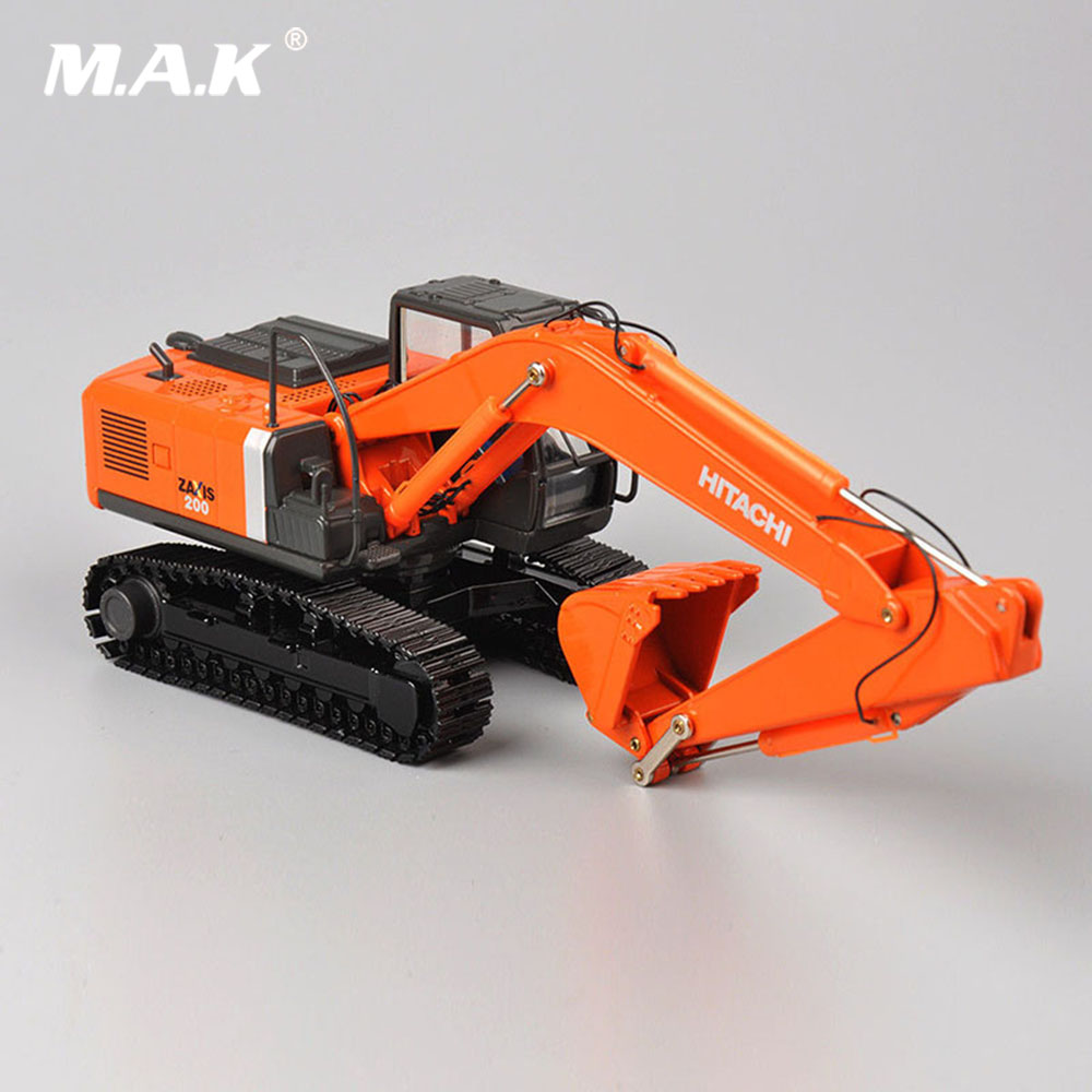 In Stock 1/50 Scale Hitachi ZH200 DieCast Alloy Excavator Model Metal Tracks Car Toys Trucks For Boys Children Holiday Gifts
