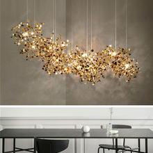 Modern Led Chandelier Living Room Center Table Bar Counter Kitchen Accesories Designer Hanging Light Fixture Home Decor Fixture