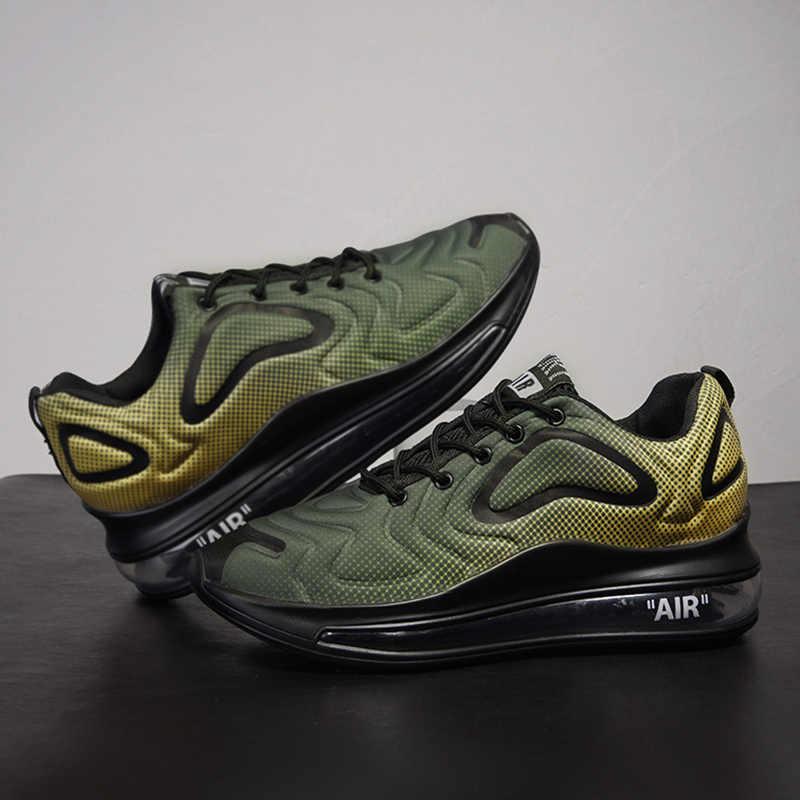 YOUQIJIA erkek tıknaz ayakkabı dantel-up düz rahat ayakkabılar platformu ile şık karışık renk nefes yetişkin erkek Tenis ayakkabısı