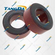 T106 2 noyaux de poudre de Fer T106 2 OD * ID * HT 27*14*11.5mm 13.5nH/N2 10uoIron poussière noyau Ferrite Noyau toroïdal Revêtement Rouge gris TANGDA T