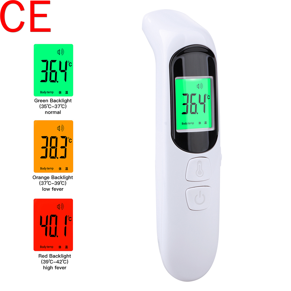 CE Baby Thermomet Digital Infrared Non-Contact Forehead Body Fever Thermometer Gun High Precision Thermometer Temperature Meter