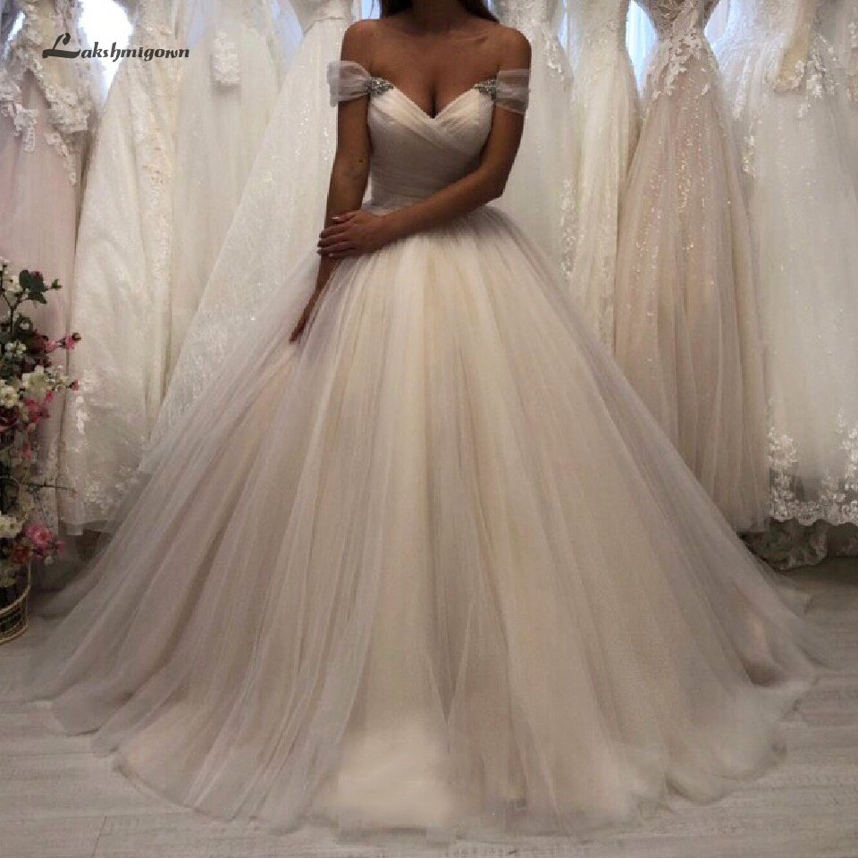 Sexy Bridal Dress Wedding Gowns Sweetheart Off Shoulder Plus Size Tulle Wedding Dresses Corset Lace Up Back Trouwjurk