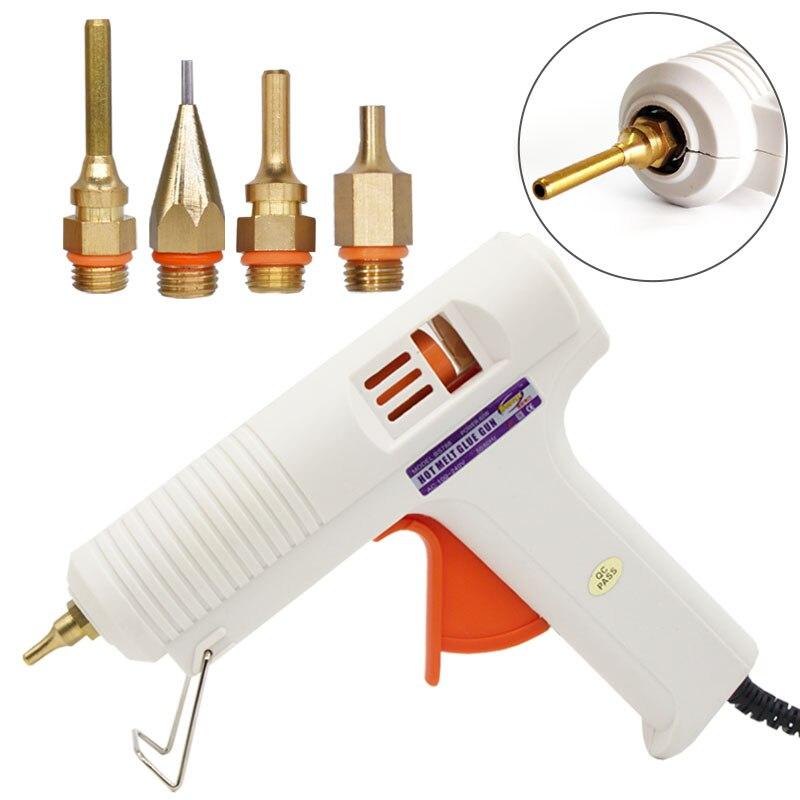 60W 220V Hot Melt Glue Gun EU UK Plug 1mm Copper Nozzle For 11mm Glue Sticks Industrial Electrical Heating DIY Tool,1 PCS/Lot