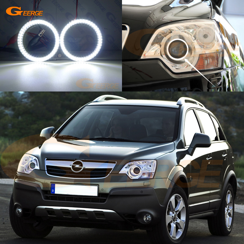 Excellent Smd Led Angel Eyes Kit Ultra Bright DRL For Opel Antara 2010 2011 2012 2013 2014 2015 Facelift Xenon Headlight