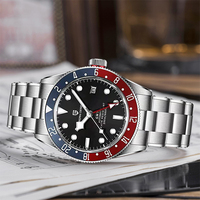 PAGANI Design-reloj mecánico automático de zafiro para hombre, pulsera resistente al agua de acero inoxidable, BB58, nuevo, GMT, 2021