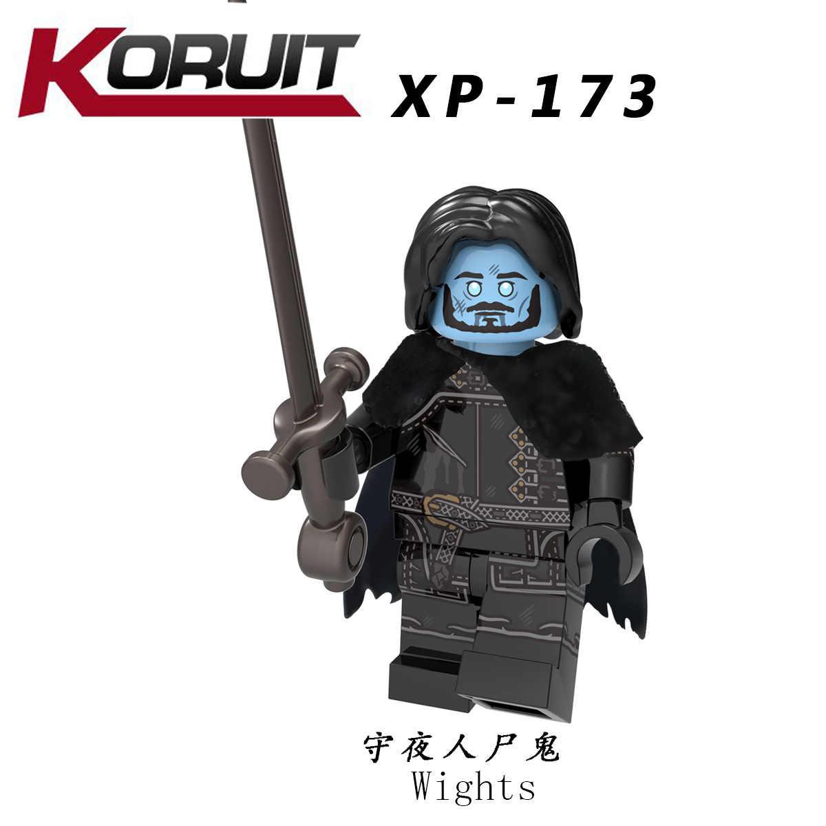 Untuk Legoing Game Of Thrones Jon Snow Arya Stark Petyr Baelish Jaime Es dan Api Blok Bangunan Model Batu Bata Anak-anak mainan Legoings
