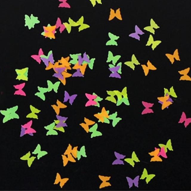 Фото 1 сумка флуоресцентный бабочка форма гвоздь в форме сердца нейл