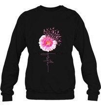 Men Hoodie Faith Pink Ribbon Daisy Breast Cancer Women Streetwear(China)