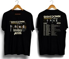 лучшая цена Shinedown with Papa Roach Asking Alexandria Tour 2019 T-shirt Sleeve T Shirt Summer Men Tee Tops Clothing Cheap Sale