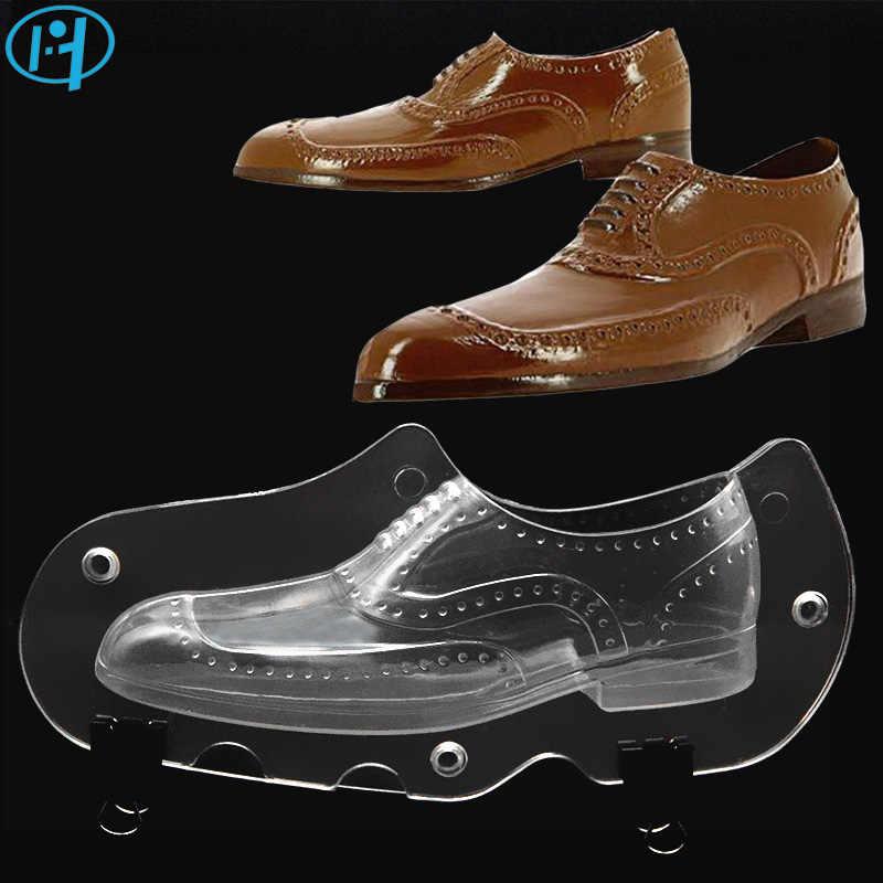 جديد جلد الرجال حذاء البلاستيك قالب الشوكولاته 3D الحلوى كعكة قوالب أدوات تزيين الكعكة DIY المنزل الخبز السكر الحرفية الاكسسوارات