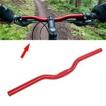 Nuevo manillar de aleación de aluminio para bicicleta urbana manubrio de engranaje fijo 25,4 manillar de bicicleta retro vintage curvado manillar de bicicleta 25,4mm * 520mm