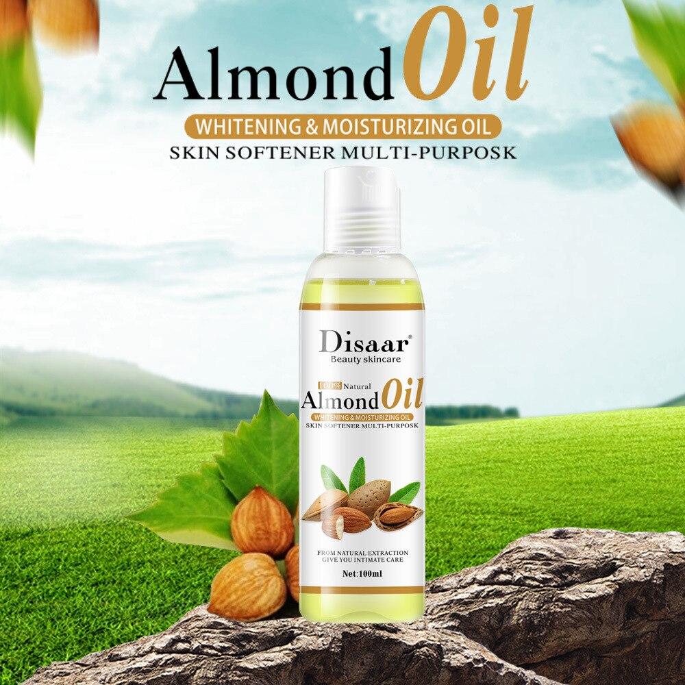 Лучшее 100% натуральное Миндальное Масло для массажа тела, уход за лицом, эфирное масло, отбеливание, увлажнение, питание, снятие стресса, спа-...