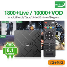 France IPTV 1 Year HK1 Mini Android 8.1 Box RK3229 2+16G IP TV 4K H.265 Decoder Arabic French QHDTV Subscription