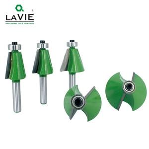 Image 2 - LAVIE 5pcs 8mm 샹크 모따기 라우터 비트 11.25 15 22.5 30 45도 밀링 커터 Woodworking 기계 MC02111