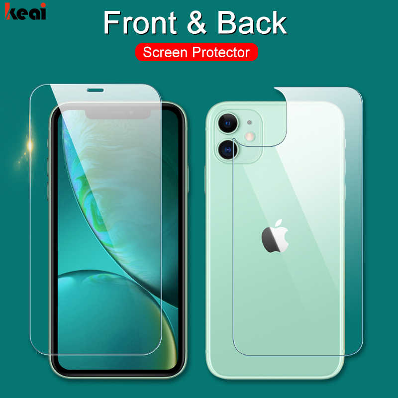 Front & Back Full Cover Schützende Glas auf Die Für iPhone 11 Pro Max 8 7 Plus SE 2020 5S 6S XR X XS Max Screen Protector Glas