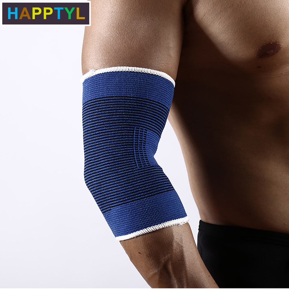 HAPPTYL 1Pair Elbow Brace Elastic Muscle Support Compression Sleeve Sport Arthritis Pain Relief