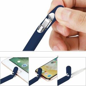 Цветной Мягкий силиконовый чехол для Apple Pencil, совместимый с iPad Tablet, сенсорная ручка, стилус, защитный чехол