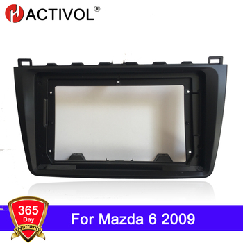 HACTIVOL 2 Din Car Radio face plate Frame for Mazda 6 2009 Car DVD GPS Player panel dash mount kit car accessory image