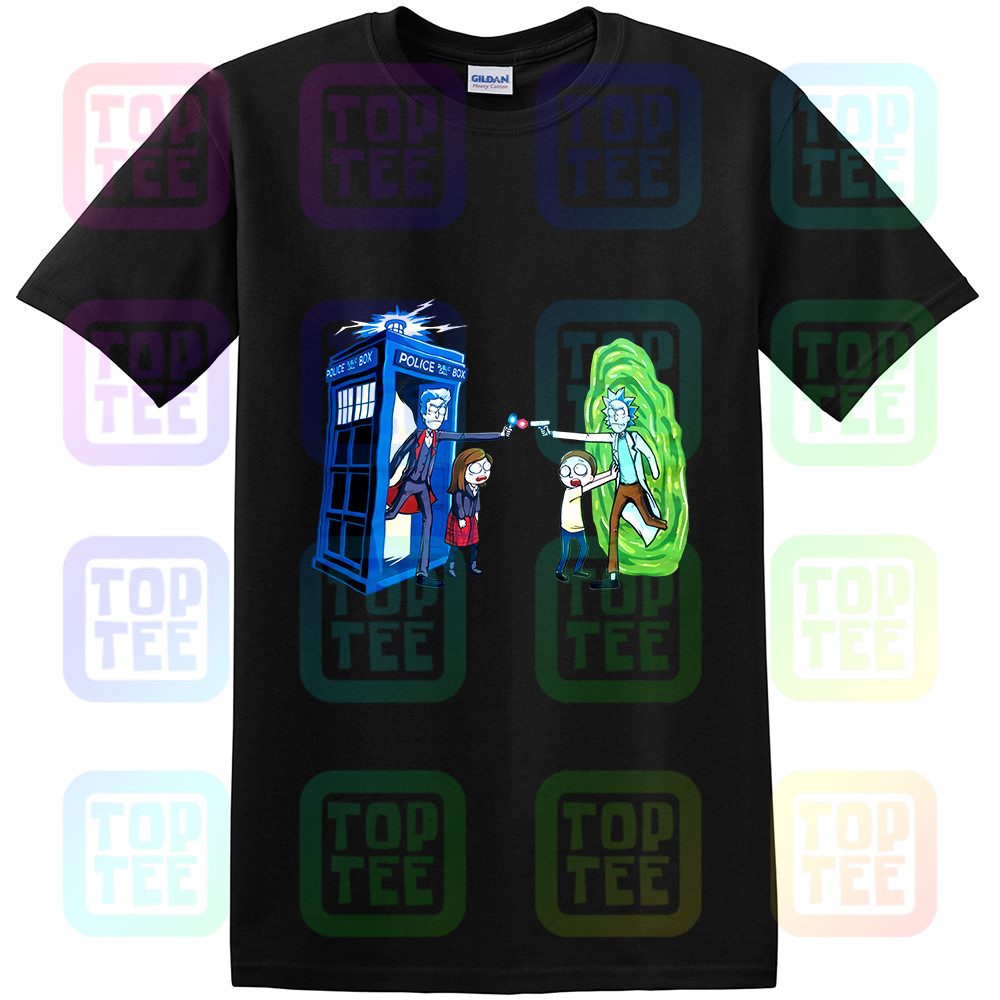 Rick Vs Doctor Who T-Shirt, Rick And Morty Men's Women's Tee