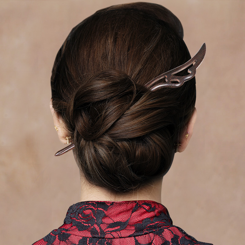 Традиционные винтажные старинные китайские шпильки для волос, резные деревянные шпильки для волос, японские шпильки для волос, шпильки для ...