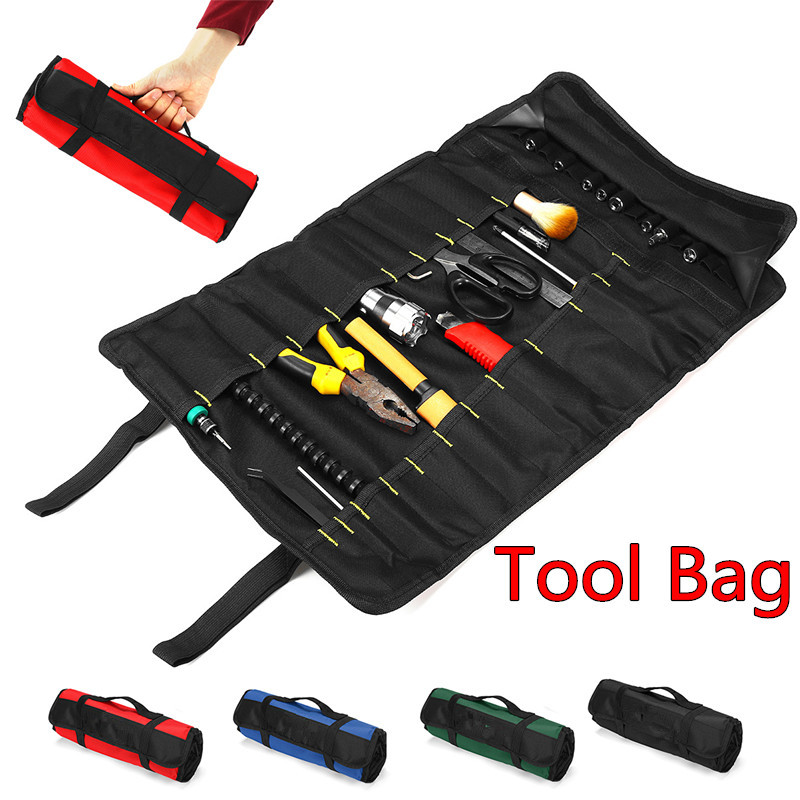 Multifunction Folding Wrench Tool Bag Waterproof Oxford Cloth Roll Storage Pocket Tools Pouch Instrument Case Tool Organizer