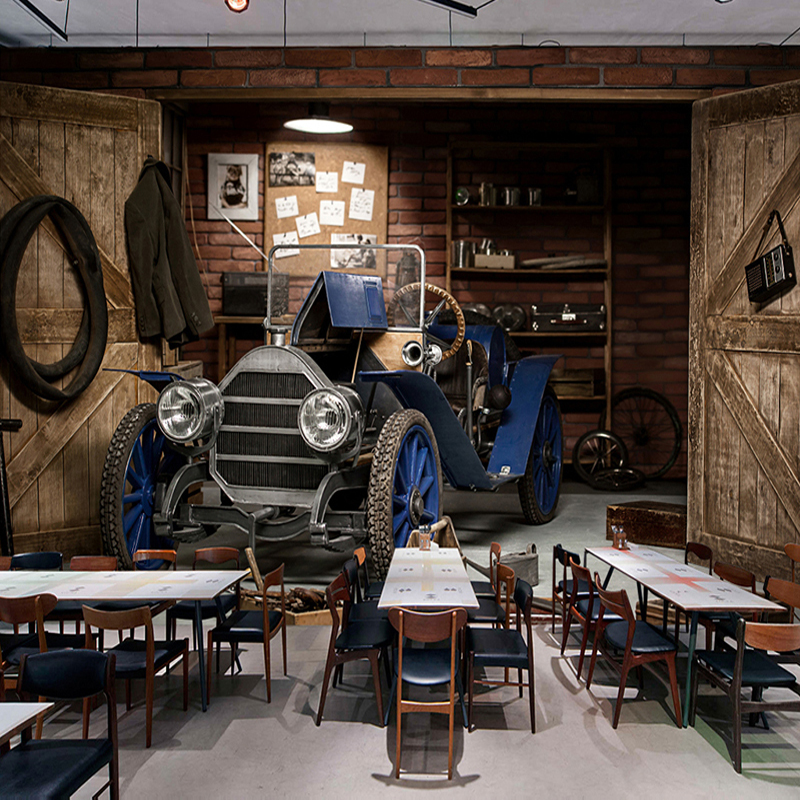 Custom Photo Wallpaper 3D Car Retro Nostalgic Style Restaurant Cafe Milk Tea Shop Background Wall Decor Art Wall Painting Mural