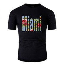 New Fashion Breathable miami tshirt 2019 Standard Clothes men's t shirt Comics big size S~5xl Top Quality(China)