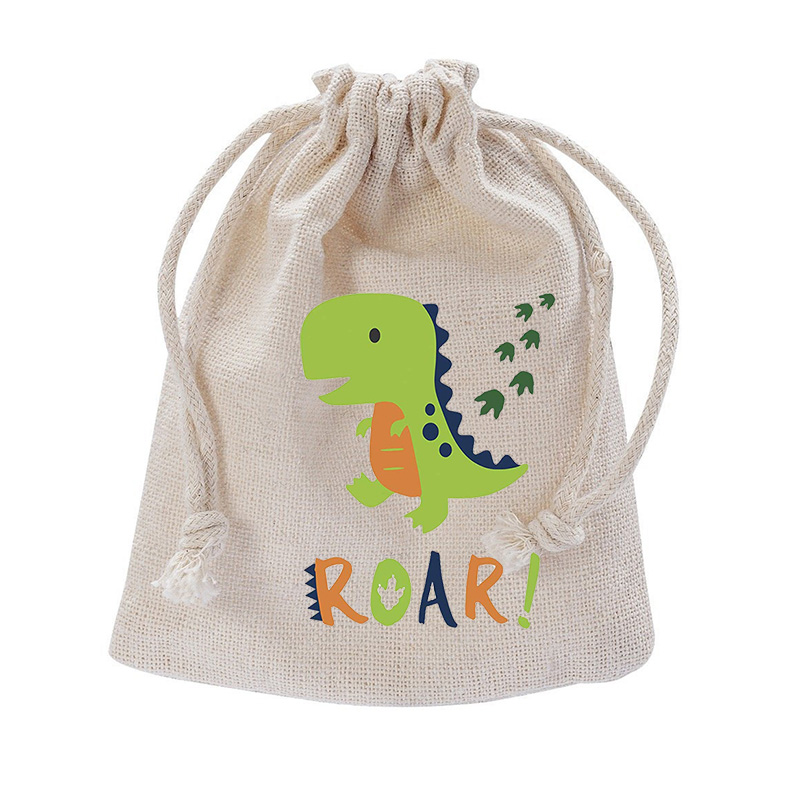 Dinosaur Jurassic World T-Rex Roar Party Favor baby shower Gender Reveal first 1st 2nd Birthday Decoration candy Goodie Gift Bag image