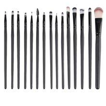 цена на 15pcs/set Makeup Brushes Pro Blending Foundation Eyeshadow Powder Eyes Eyebrow Lip Eyeliner Make up Brush Cosmetic Tool hot