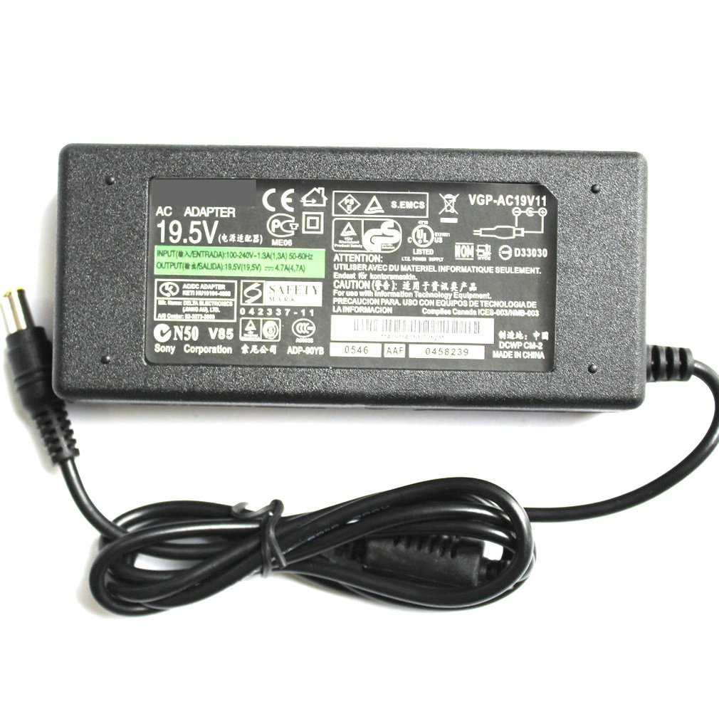 Universal Laptop 19.5V 4.7A AC Power Notebook Charger Adapter For SONY Series Computer Power Supply External