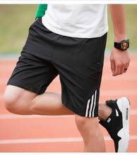 Pantalones cortos deportivos informales a rayas para hombre, ropa deportiva para correr, culturismo, 2020