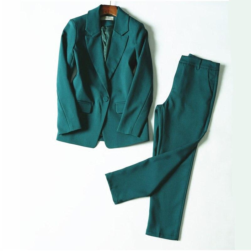 Women Business  interview suit set uniform smil Blazer and Pencil Pant  1