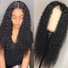 Lace Wigs Peruvian Deep Wave 250% Density Lace Closure Wig Pre Plucked Arabella Remy Hair 4*4 Closure Wig With Baby Hair Wigs(China)