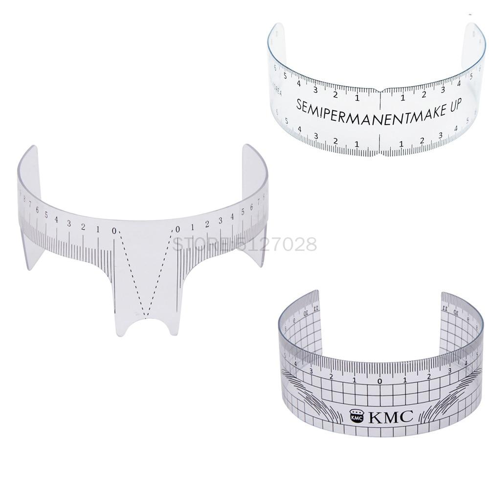 1PC Reusable Semi Permanent Eyebrow Ruler Eye Brow Measure Tool Eyebrow Guide Ruler Microblading Calliper Stencil Makeup Tools